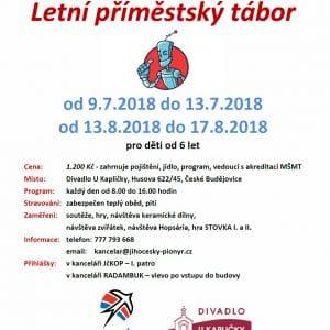Jihočeská krajská organizace Pionýra- příměstský tábor 13.8.2018 - 17.8.2018